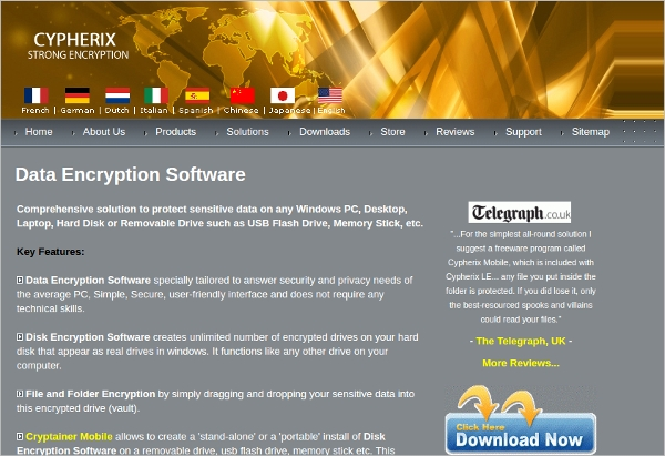 cypherix data encryption