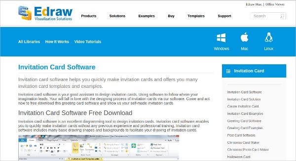 edraw invitation card software