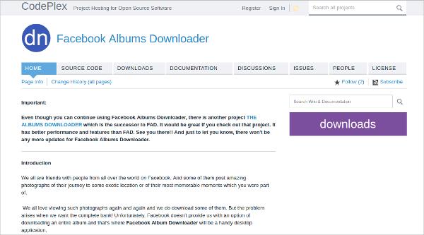 facebook albums downloader