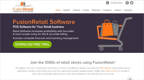 fusion retail software