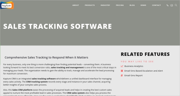 kapture sales tracking software