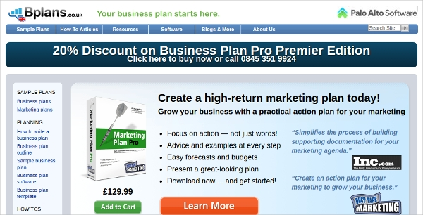 marketing plan pro