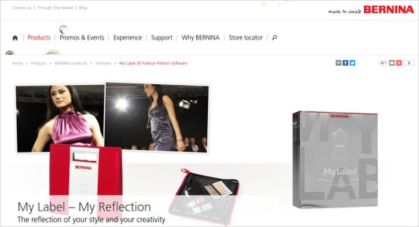 my label 3d fashion by bernina