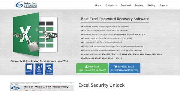 pds excel password recovery