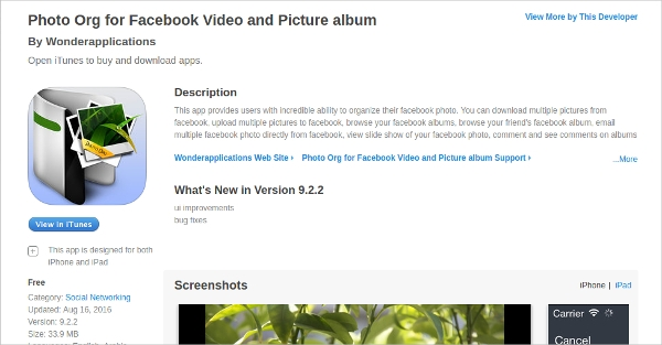 photo org for facebook