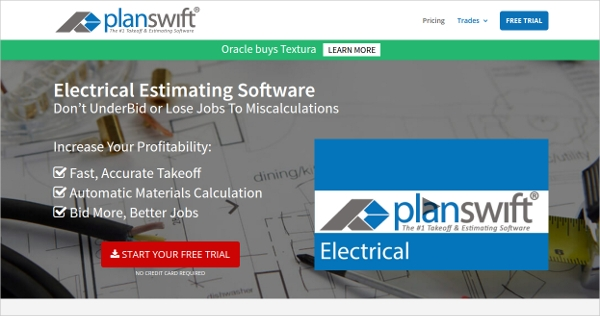 planswift electrical estimating software