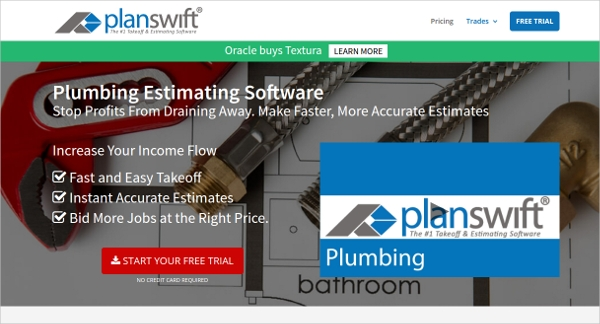 planswift plumbing estimating software