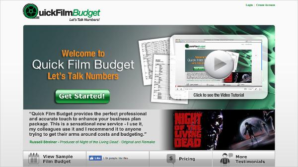 quick film budget