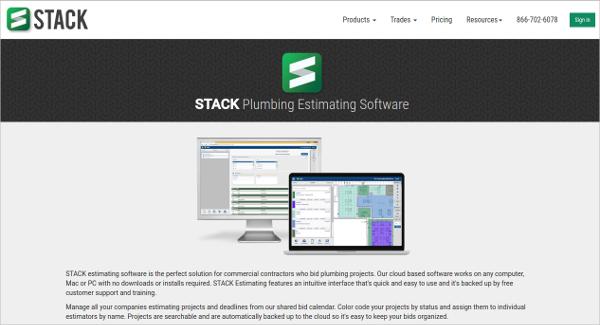 stack plumbing estimating software