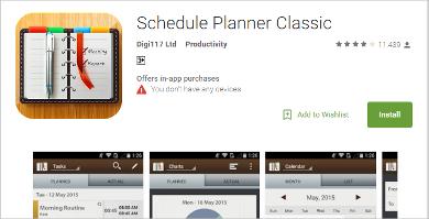 schedule planner classic
