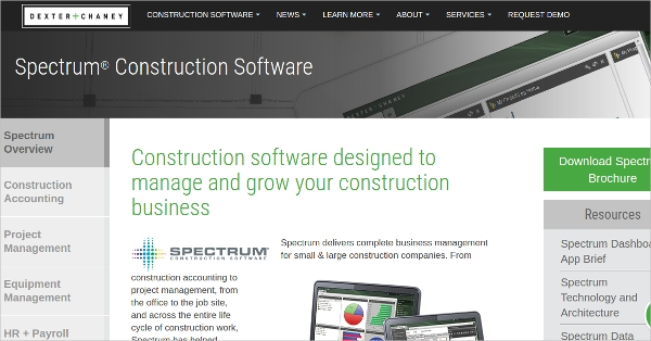 spectrum%c2%ae construction software
