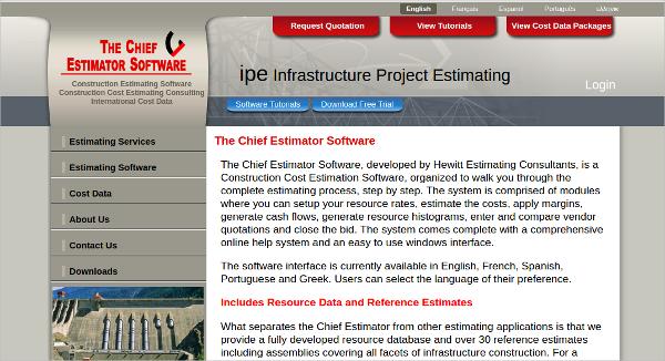the chief estimator software