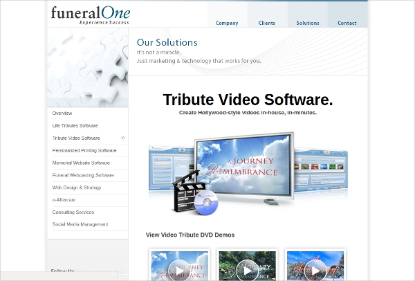 tribute video software