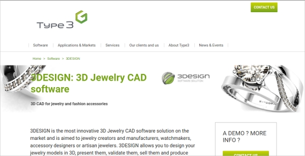 type3 3d jewelry cad software