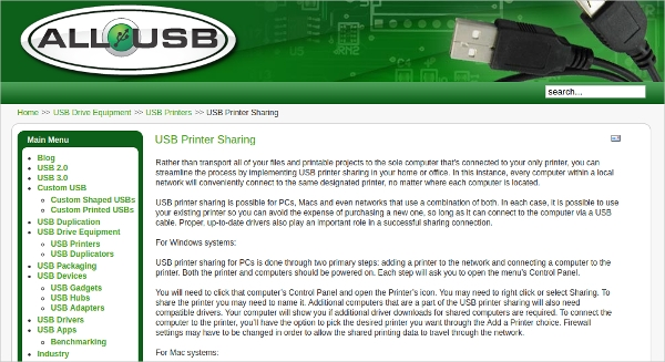 usb printer sharing