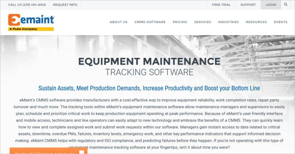 emaint equipment maintenance