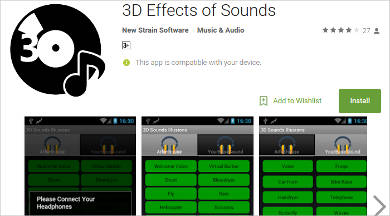 3d effects of sounds for android