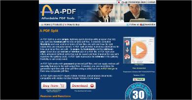 a pdf split