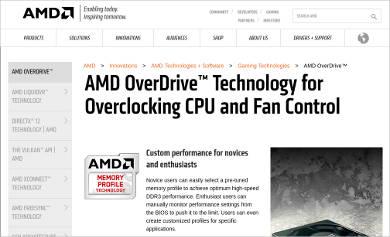 amd overdrive%e2%84%a2