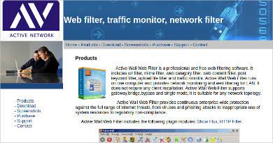 active wall web filter