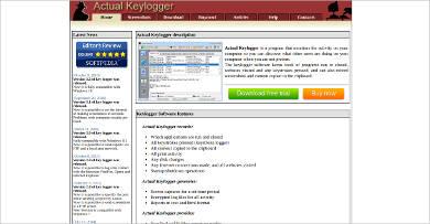 actual keylogger