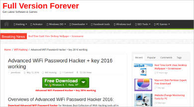 advanced wifi password hacker