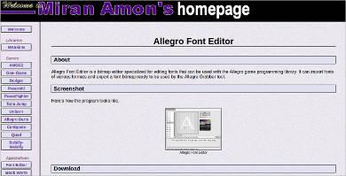 allegro font editor