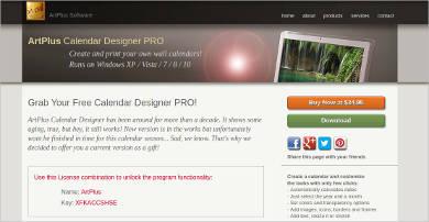 artplus calendar designer pro