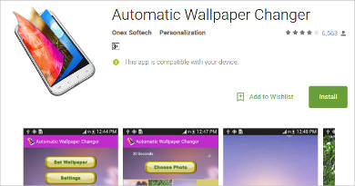 automatic wallpaper changer for android