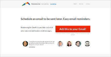 boomerang for gmail most popular software