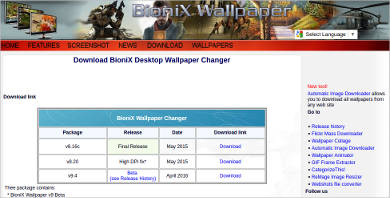 bionix desktop wallpaper changer most popular software