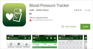 blood pressure tracker for android