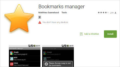 bookmarks manager for android