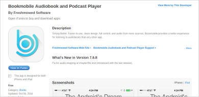 bookmobile audiobook and podcast player