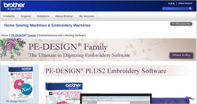 brother pe design%c2%ae plus2 embroidery software