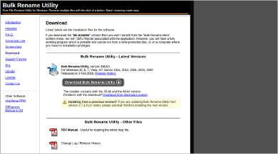 bulk rename utility most popular software