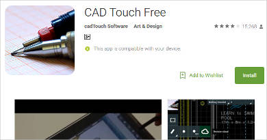 cad touch free for android