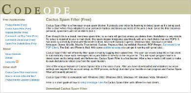 cactus spam filter