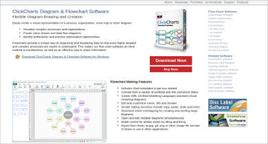 clickcharts diagram flowchart software
