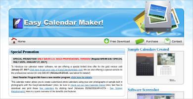 easy calendar maker for windows