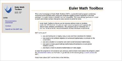 euler math toolbox most popular math software