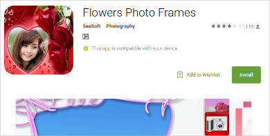 flowers photo frames for android