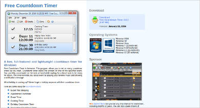 free countdown timer most popular software