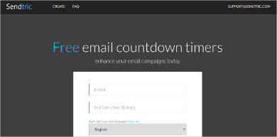 free email countdown timers by sendtric