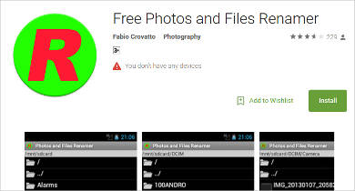 free photos and files renamer for android