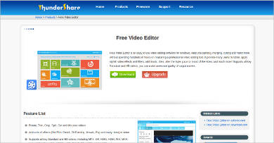free video editor by thundershare