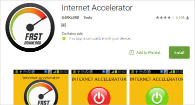 internet accelerator for android