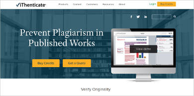 ithenticate plagiarism