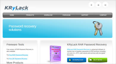 krylack rar password recovery
