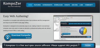 kompozer most popular software